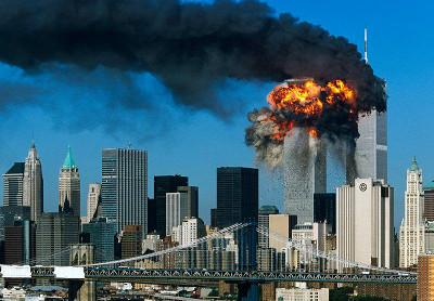 9/11: Brennendes World-Trade-Center