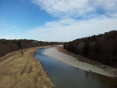 Blick von der Großhesseloher Brücke