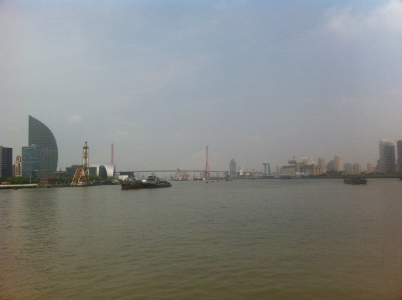Schrägkabelbrücke über den Huangpu