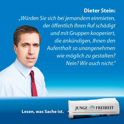 Dieter Stein sagt Teilnahme der JF an der Buchmesse ab