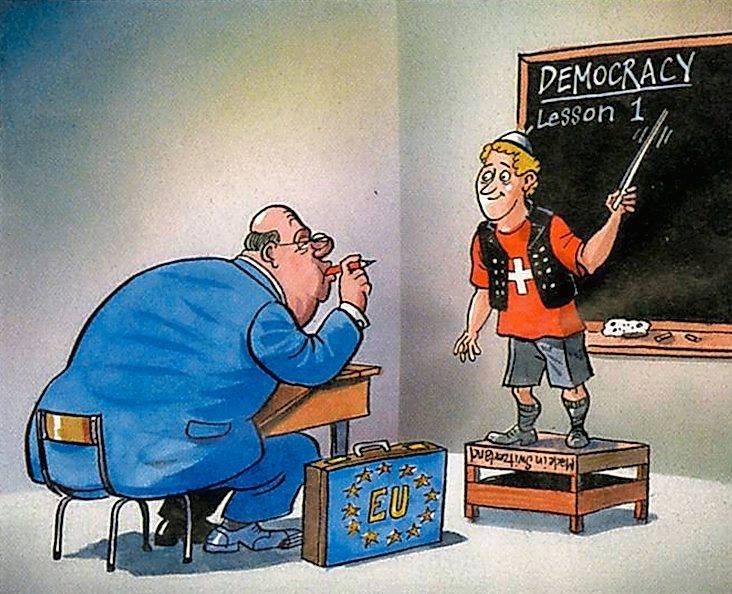 EU als Schüler der Schweiz