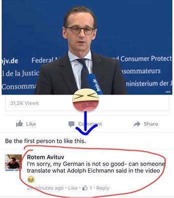 Heiko Maas sieht aus wie Adolf Eichmann