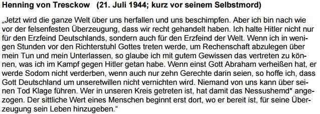 Henning v. Tresckow vor seinem Selbstmord am 21.7.1944