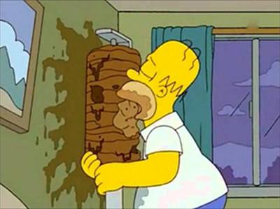 Homer Simpson und der Dönerspieß