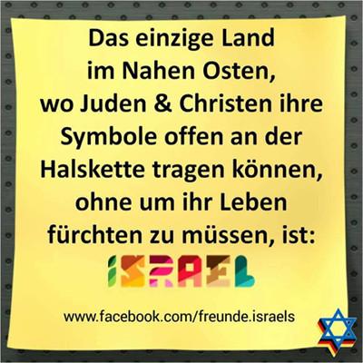 Israel einziges für Christen sicheres Land in Nahost