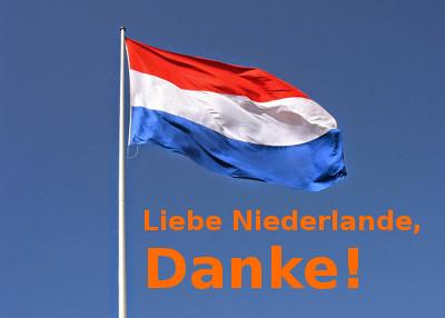 Liebe Niederlande - Danke!