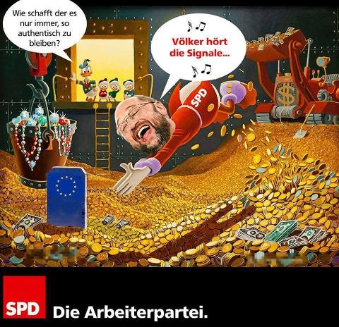 Martin Schulz badet im Geld