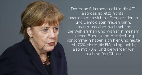 Merkel: Werden Flüchtlingspolitik so fortführen