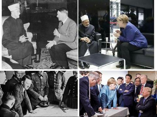 Merkel und Hitler im Bildvergleich