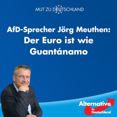 Jörg Meuthen: Der Euro ist wie Guantanamo