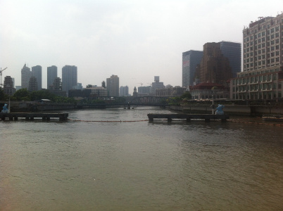 Mündung des Suzhou-Creek in den Huangpu