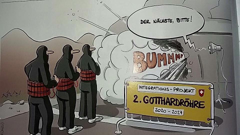 Muslime sprengen den Gotthard-Tunnel