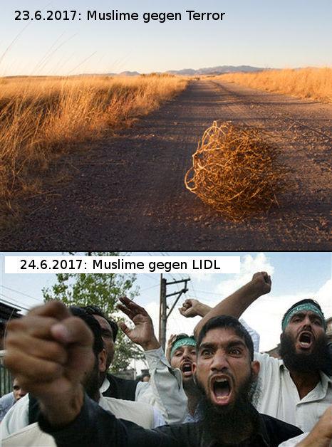 Muslime gegen Terror - Muslime gegen LIDL
