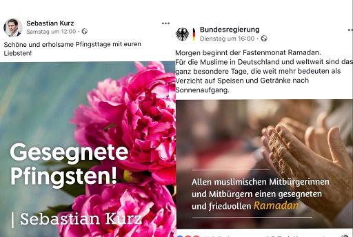 Pfingstgrüße aus Österreich und aus Deutschland