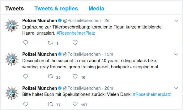Polizei München auf Twitter