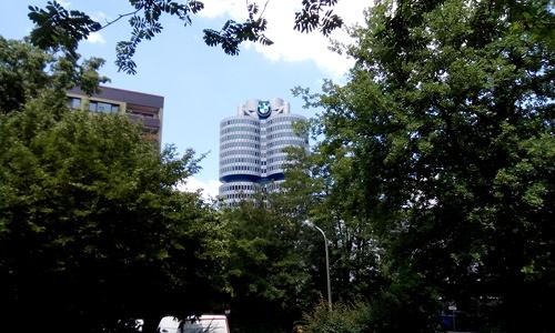 Schnappschuss vom BMW-Turm