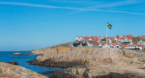 Schweden, ein Dorf an der Küste