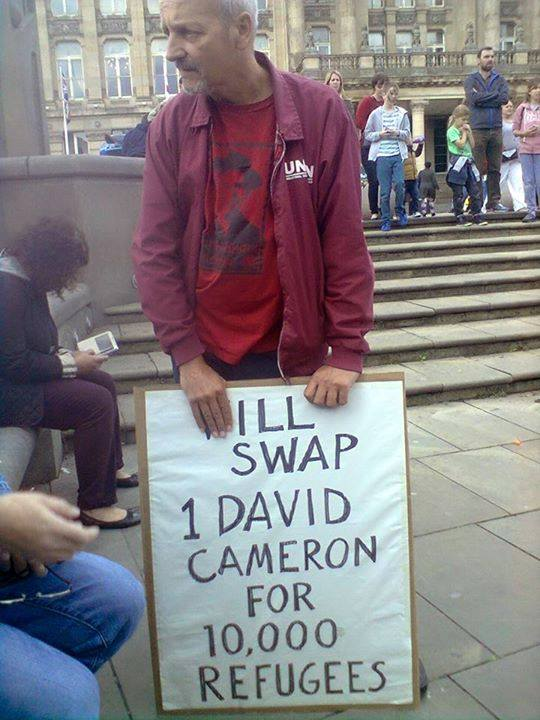 Will swap 1 Cameron for 10.000 refugees