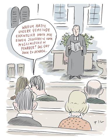 Til Mette: Muslimischer Pfarrer?