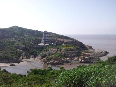 Touristische Szenerie auf Yangshan