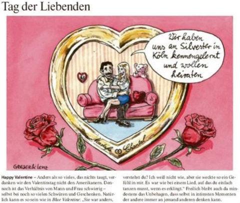 Valentinstag nach Köln