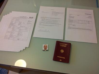 Dokumente für Visumsantrag für China