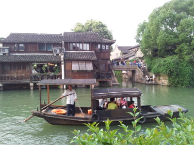 Wuzhen, Touristenboot